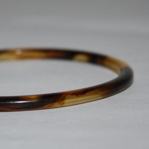 Vintage Jewelry - Vintage brown plastic bangle bracelet